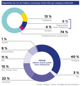 infographie chiffre d'affaires de l'édition numérique